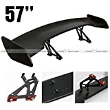 """57"""" High Stand Rear GT Wing ABS Black Trunk Spoiler"""