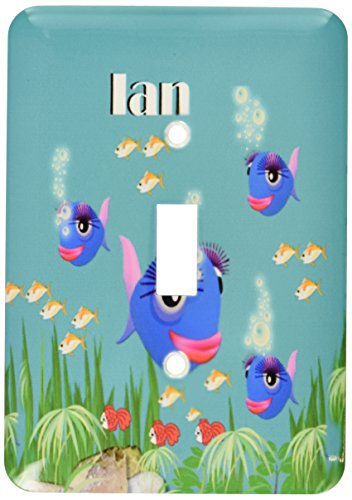 3dRose lsp_51228_1 This vibrant artwork of Fish under the sea is personalized with the name Ian Toggle Switch