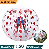 shaofu Inflatable Bumper Ball Dia 4/5 ft (1.2/1.5 m) Human Hamster Ball for Adults/Kids Eight Colors(US Stock)(Dia 4 ft/Red Dot)