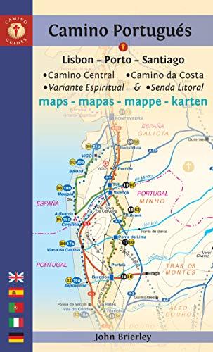 Camino Portugués Maps: Lisbon - Porto - Santiago / Camino Central, Camino de la Costa, Variente Espiritual & Senda Litoral (Camino Guides) (Maps Central)