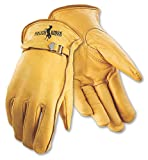Galeton 2510-L Strap Buckle Rough Rider Premium Leather Gloves (Pack of 12), Large, Gold