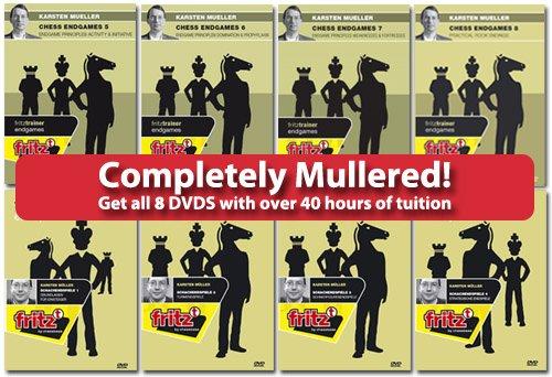 Completely Mullered! Chess Endgames Vol 1 - 8 (PC-DVD) - Karsten Muller by Fritz Media System