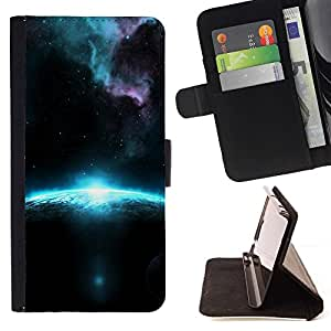 For Apple Iphone 6 PLUS 5.5 Sunrise In Space Beautiful Print Wallet Leather Case Cover With Credit Card Slots And Stand Function