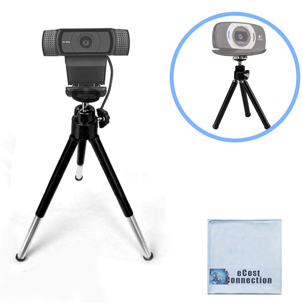 eCostConnection 7' Extendable Mini Tripod for Logitech Webcams C920 C922 and Other Small Cameras + Microfiber Cloth ECCO-FAQGWBC