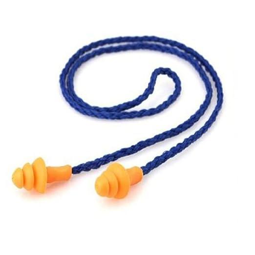 34 opinioni per Tinksky Tappi auricolari con filo in silicone riutilizzabile udito protezione