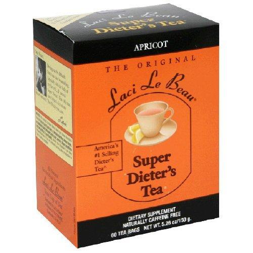 Apricot Dieters Super (SUPER DIETER'S TEA APRICOT 60 Tea Bags Net Wt 5.26 oz./150 g by Laci LeBeau)