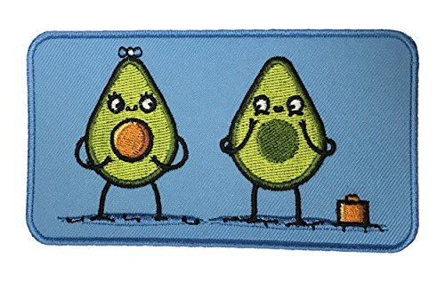 """Randy Otter """"Avacado Baby"""" Seed Vegetable Parents Funny Iron On Patch"""