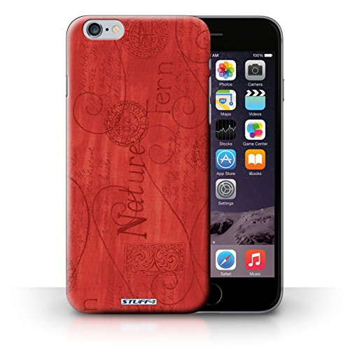 Hülle Case für iPhone 6+/Plus 5.5 / Rot Entwurf / Muster Natur Collection