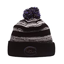"Zephyr ""Black Baron"" Black Cuff Beanie Hat with POM POM - NHL Cuffed Winter Knit Toque Cap"