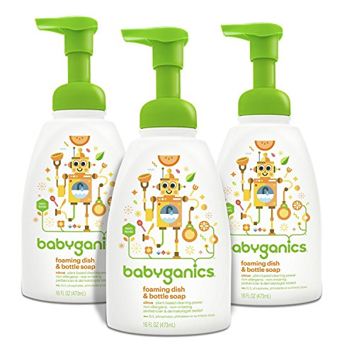 BabyGanics Foaming Dish and Bottle Soap, Citrus, 16oz Pum...