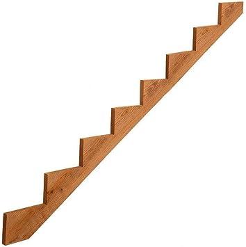 Rabinyod Bulan precortada para exteriores de madera tratada a presión, 8 peldaños, para porche y escalera: Amazon.es: Bricolaje y herramientas