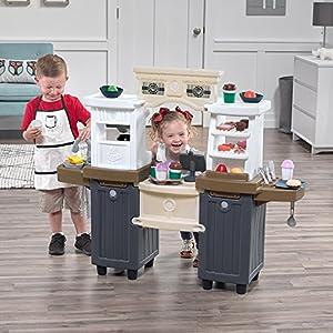 Step2 Coffee Bean Café & Play Kitchen | Large Kids Kitchen Playset & Pretend Play Restaurant | Play Food & Toy…