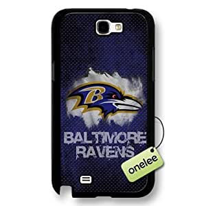 NFL Baltimore Ravens Team Logo For Case HTC One M7 Cover Black Hard Plastic - Black
