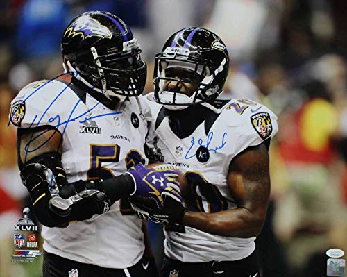 (Ray Lewis & Ed Reed Autographed Baltimore Ravens 16x20 Photo JSA)