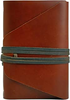 product image for LEATHER JOURNAL Writing or Drawing Notebook, Handmade, Leather Bound For Men & Women, Unlined Blank Pages, 6.25 x 7 Inches, Great Gift for Artists Or Writers, Often Used As A Travel Sketchbook, Diary