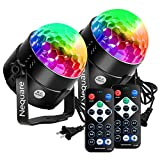 Nequare Party Lights Disco Ball Sound Activated Strobe Light 7 Lighting...