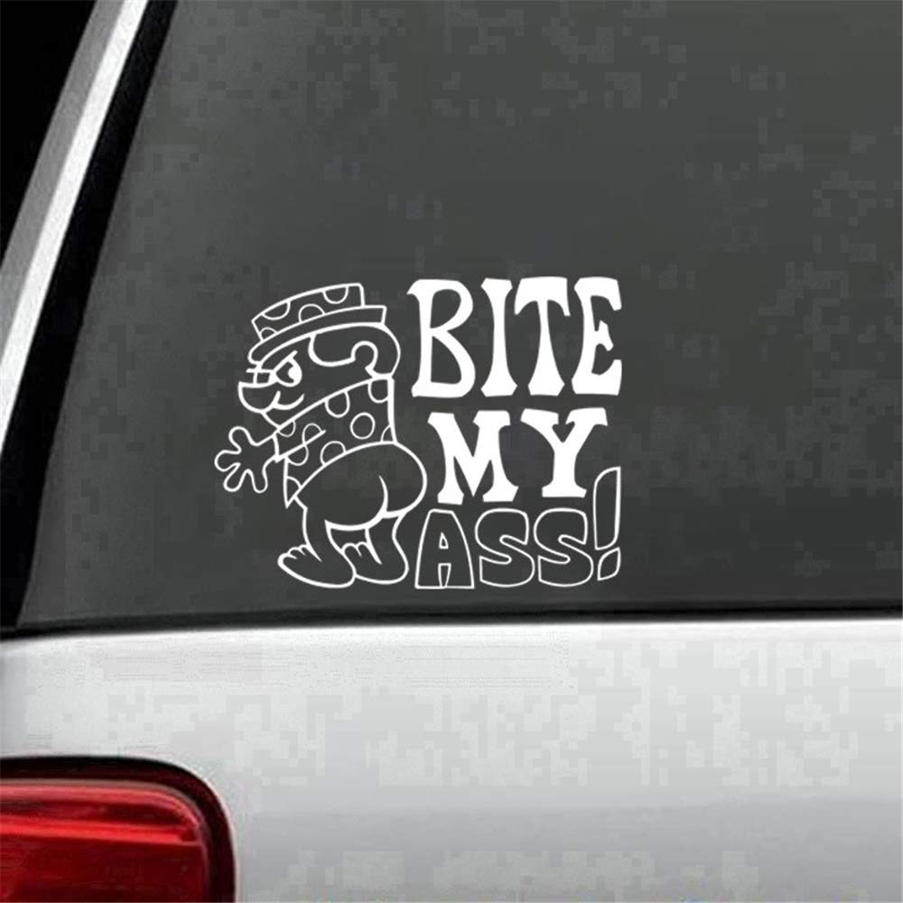 Wall art stickers quotes and sayings bite my ass funny rude adult car truck window wall laptop decal sticker car accessories motorcycle helmet car styling