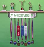metal and trophy display shelf - Wrestling Trophy Shelf and Medal Display
