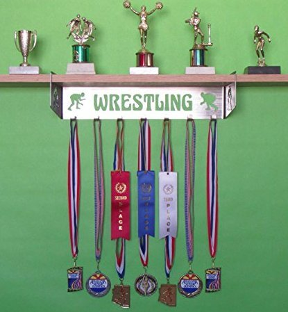 Wrestling Trophy Shelf and Medal Display by All stuff Metal