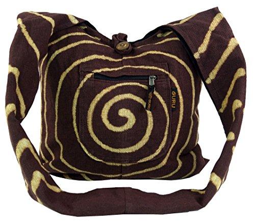 Bag Sadhu 'spirale' - marrone/borse Sadhu, Hippie sacchetto