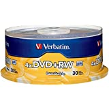 Verbatim 4.7 GB 1x- 4x ReWritable Disc DVD plus RW, 30 Disc Spindle 94834