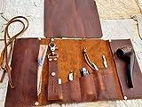 Aficionado Large Leather Pipe/Cigar & Tobacco Pouch