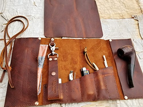 Aficionado Large Leather Pipe/Cigar & Tobacco Pouch by Charred Embers & Oak