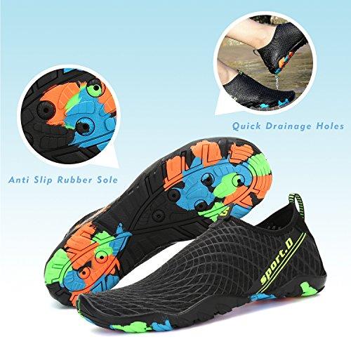 Mujer Deportes Buceo Escarpines Piscina Oscuro Agua Playa Vela Snorkel Surf De Hombre Calzado Para Aqua negro Zapatos Natación Acuáticos Río Mar Cycling HpFqw