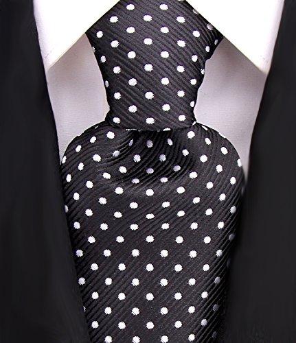 men ties black and white - 7