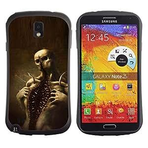 LASTONE PHONE CASE / Suave Silicona Caso Carcasa de Caucho Funda para Samsung Note 3 N9000 N9002 N9005 / Skull Monster Scary Halloween