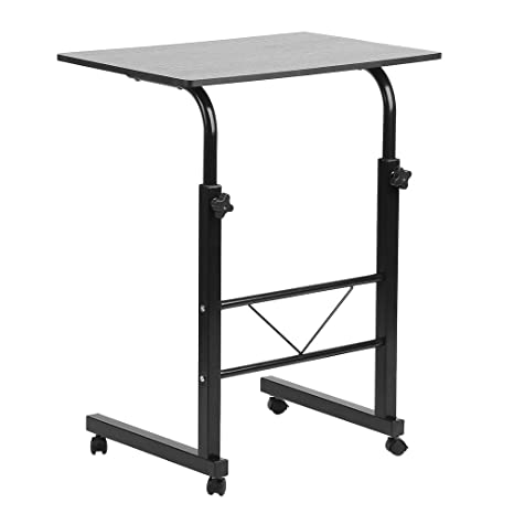 Homgrace Laptop Stand, Medical Over Bed Table,Laptop Desk With Wheels  Portable Side Table
