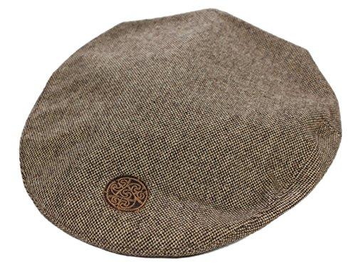 Brown Tweed Flat Cap Celtic Circle Emblem Medium (Hats Celtics)