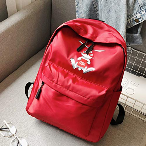 Dowager School Backpack Teen Girls Bookbag Student Back to School Laptop Backpack (red)
