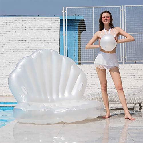 Zwembad Opblaasbare Float, Colossal Sea Shell Shaped Pool Floats, zwemmen Cushion Air Leuke Floating Row Summer Party Beach Vakantie voor Volwassen en Kids160x130x13