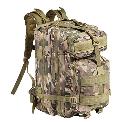 Flexzion Tactical Backpack 40L Large Army Assault Pack, Bug-out Bag Daypack