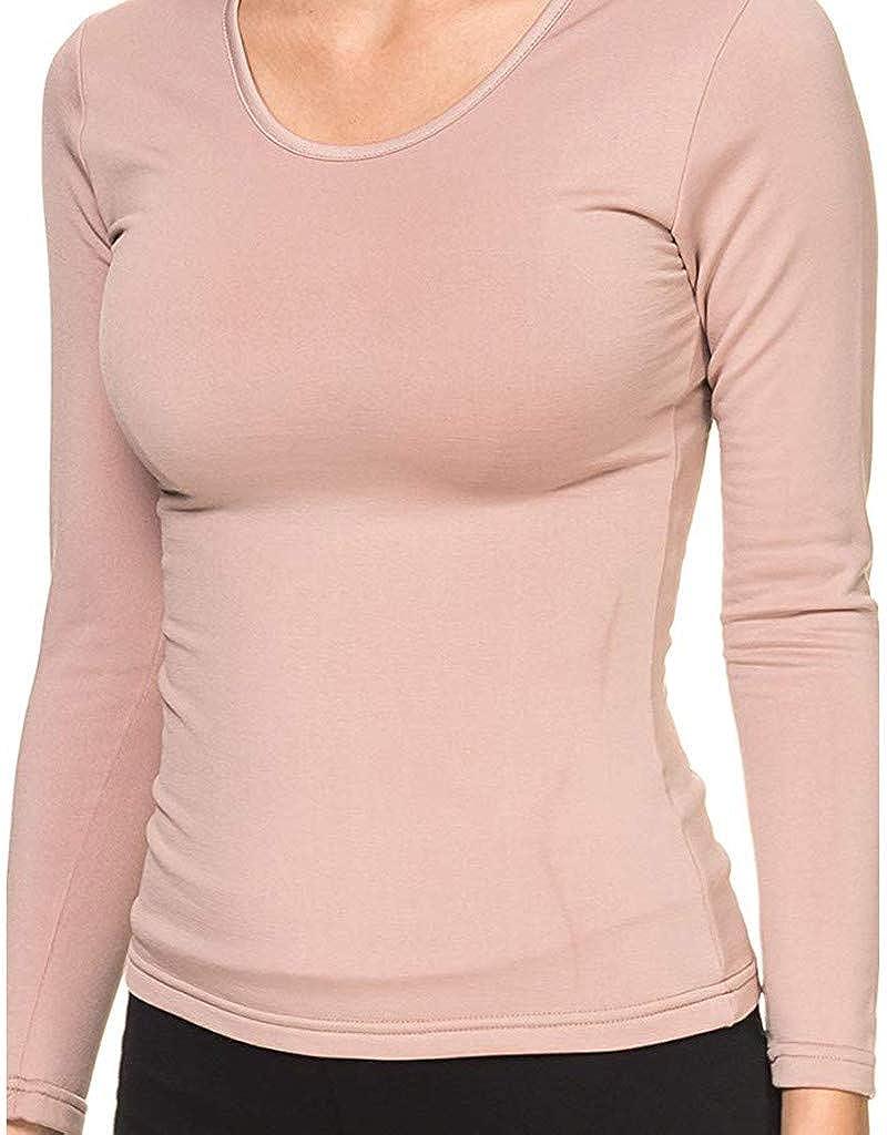 Moudozsdi Women Winter Warm Long Sleeve Turtleneck Top Lightweight Sleepwear Blouse Shirt