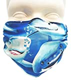 Breathe Healthy Dust & Allergy Mask - Comfortable, Washable Protection from Pollen, Asthma, Dust, Cold & Flu with Antimicrobial; Travel, Landscaping, Woodworking, Dog Grooming: Shark Design (Adult)