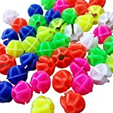 108Pcs Colorful Plastic Bike Wheel Spokes Beads Clip Bicycle Decors (Round)