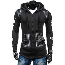 ManxiVoo Fashion Men Leather Winter Warm Hooded Sweatshirt Coat Jacket Outwear Sweater
