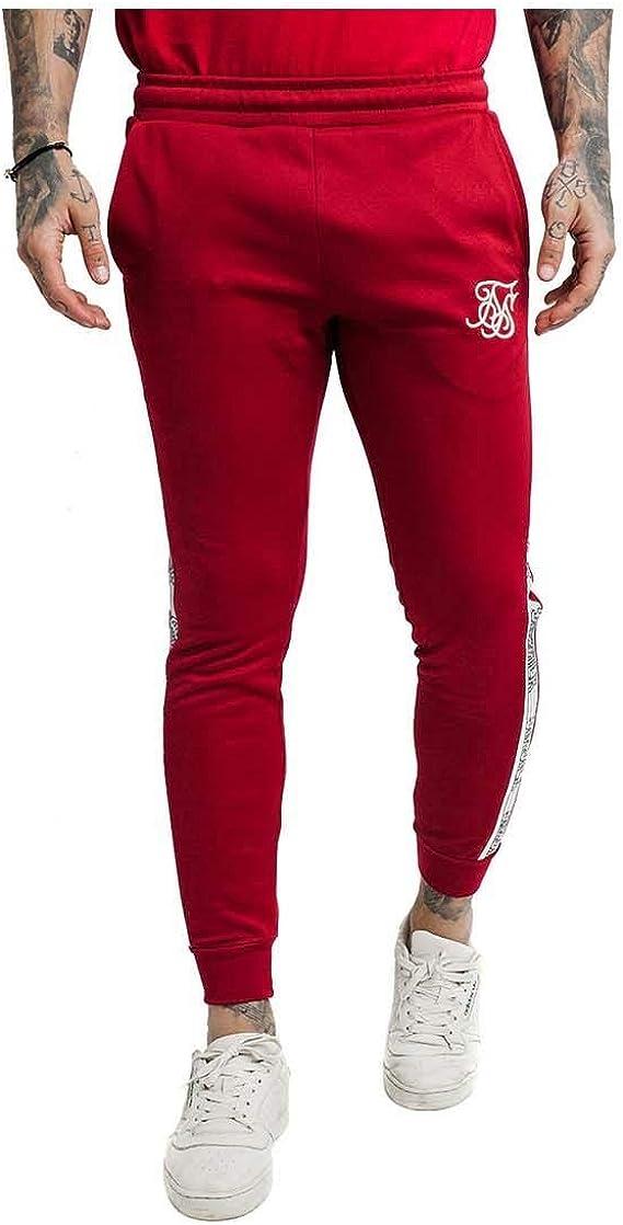 Sik Silk Pantalón Cuffed Runer Rojo Hombre XS Rojo: Amazon.es ...