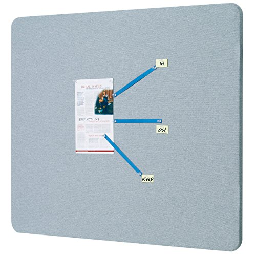Quartet Bulletin Board, 3 x 2 Feet, Frameless, Fabric, Office Bulletin Boards, Gray (7683G) by Quartet