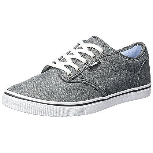 2cc20a838c on sale Vans Atwood Low Women US 6.5 Gray Skate Shoe - appleshack.com.au