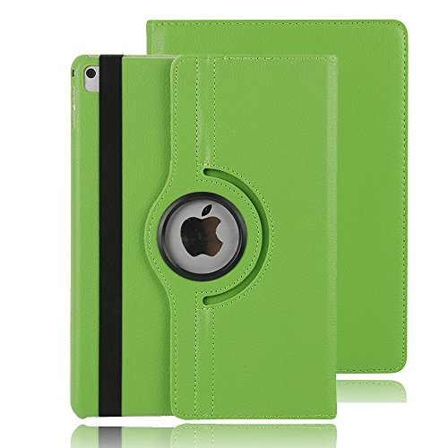 Price comparison product image 9.7 inch iPad Pro 9.7 Case Cover, TechCode 360 Degrees Rotating Smart Stand with Card Slots Screen Protective Case Cover for Apple iPad Pro 9.7 inch 2016 Tablet (Green)