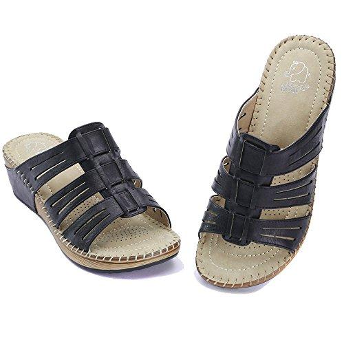Alexis Leroy Lente Zomer Dames Sleehoes Mode Mode Sandaal Schoenen Zwart