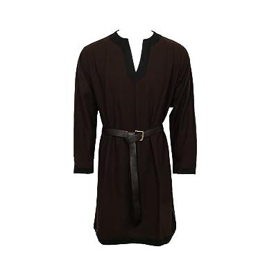 Nofonda Túnica Medieval para Hombre - Camisa de Vestir, Estilo Caballero, Disfraz de Halloween Cosplay, Fiestas, Navidad, Larp