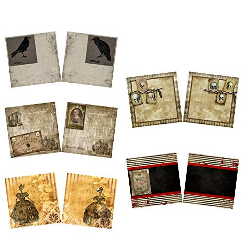 Haunted House NPM - Halloween Scrapbook Set - 5 Double Page Layouts for $<!--$19.99-->