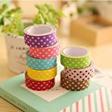 Dot Print DIY Decorative Adhesive Sticker Masking Paper Roll Tape