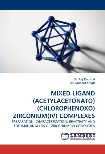 Mixed Ligand (Acetylacetonato)(Chlorophenoxo) Zirconium(iv) Complexes