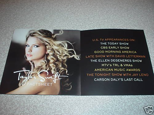 Taylor Swift ''Fearless'' Promo CD Box Set Rare by Taylor Swift