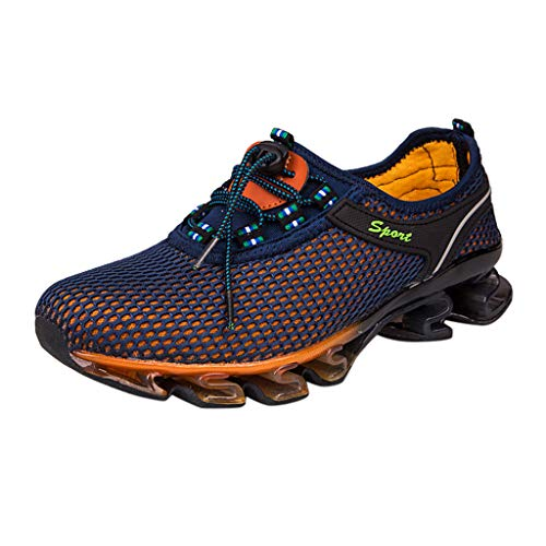 ERLOU Sneakers Men Breathable Outdoor Hiking Shoes Casual Sports Shoes Wading Shoes Fashion 2019 (Navy, 11.5)